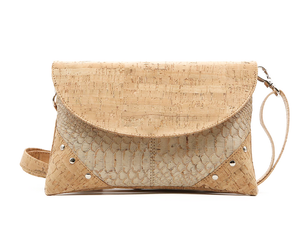 Vegan Tacks Bag | White Snake - Vegan Shoes Rutz