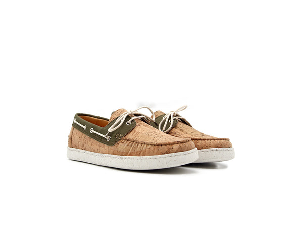 Dockside | Natural & Recycled PET Green - Vegan Shoes Rutz