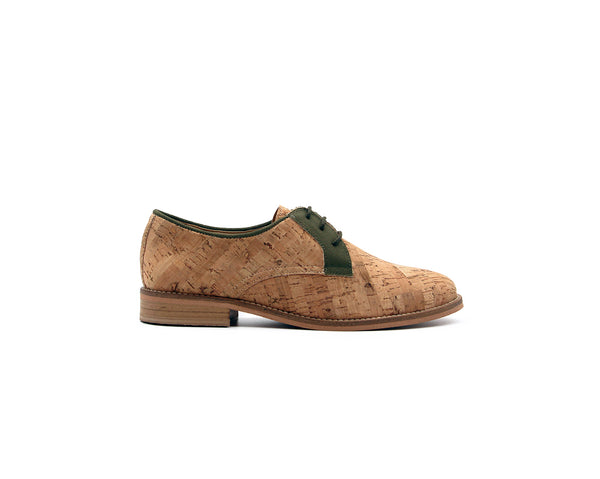 Derby Shoes | Recycled PET Green - Vegan Shoes Rutz