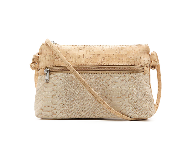 Vegan Shoulder Bag | White Snake - Vegan Shoes Rutz