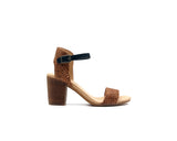 Mid Heel Sandal | Recycled PET Brown - Vegan Shoes Rutz