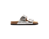 Buckled Slippers <br> Silver - Vegan Shoes Rutz