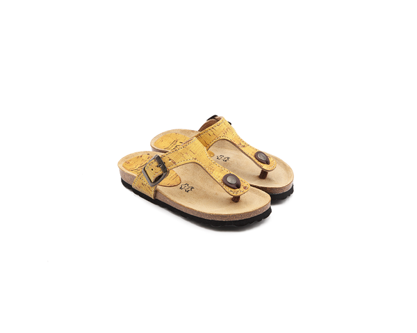 Vegan Slippers (Kids) | Mustard - Vegan Shoes Rutz