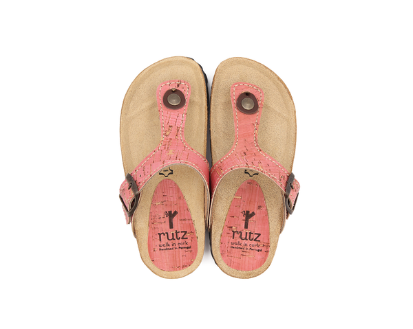 Vegan Slippers (Kids) | Pink - Vegan Shoes Rutz