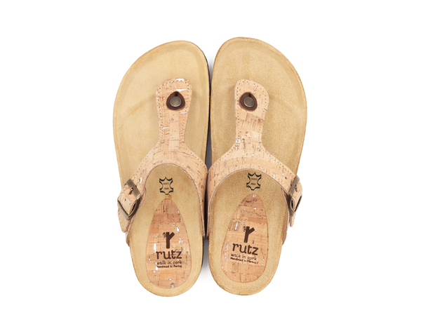 Slippers (Woman) <br> Natural-Silver
