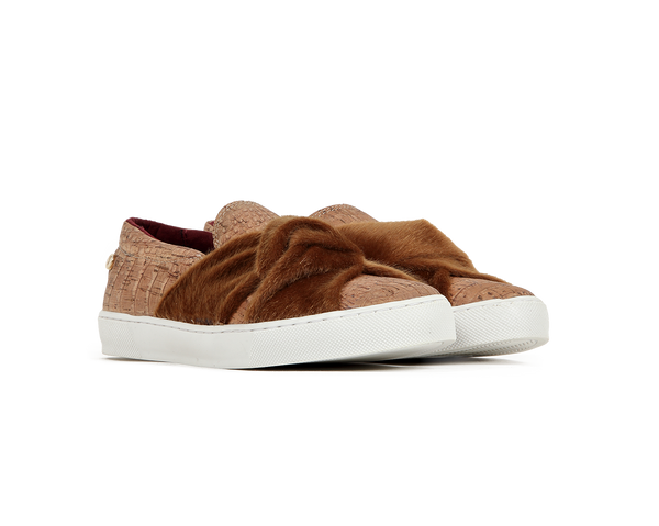 Vegan Slip Ons <br> Croco Natural
