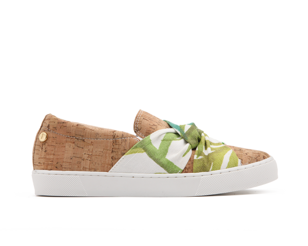 Vegan Slip-On | Natural / White Tropics - Vegan Shoes Rutz