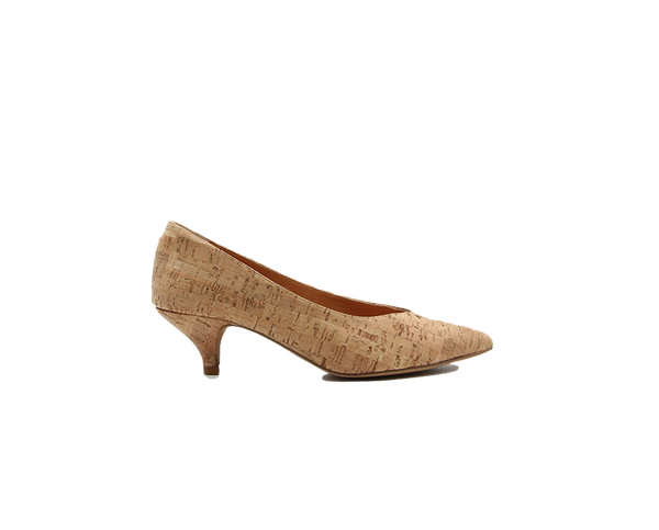 Low Heel Pumps | Natural