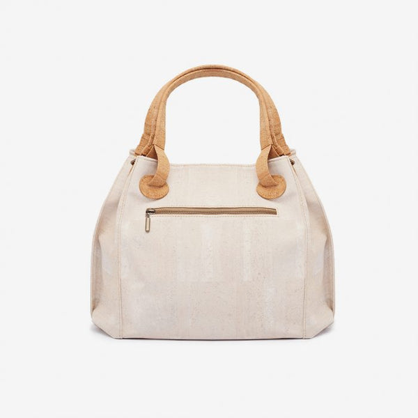Laser Big Bag White and Natural Cork
