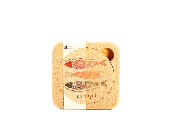 Coasters (1 set of 4) | Sardines - Vegan Shoes Rutz
