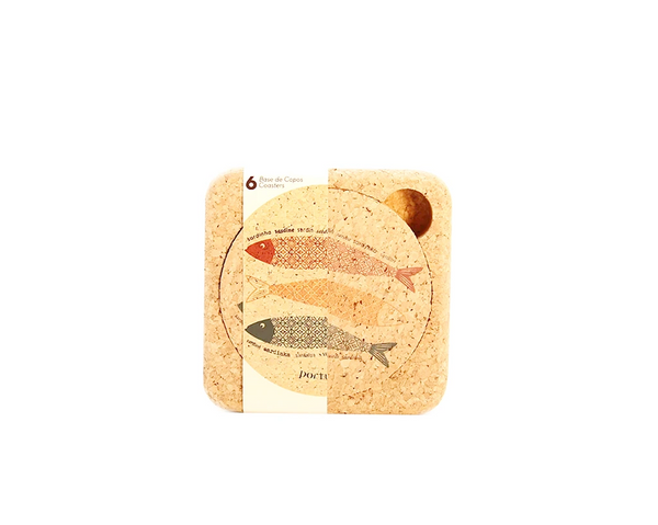 Coasters (1 set of 6) | Sardines - Vegan Shoes Rutz