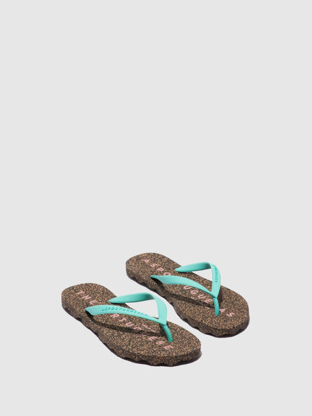 Flip Flops Base| Green & Black