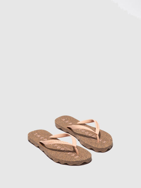 Flip Flops Base| Pink & Brown