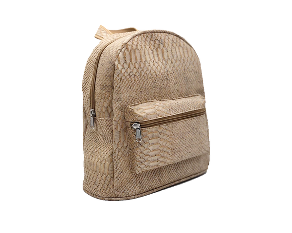 Vegan Backpack | White Snake - Vegan Shoes Rutz