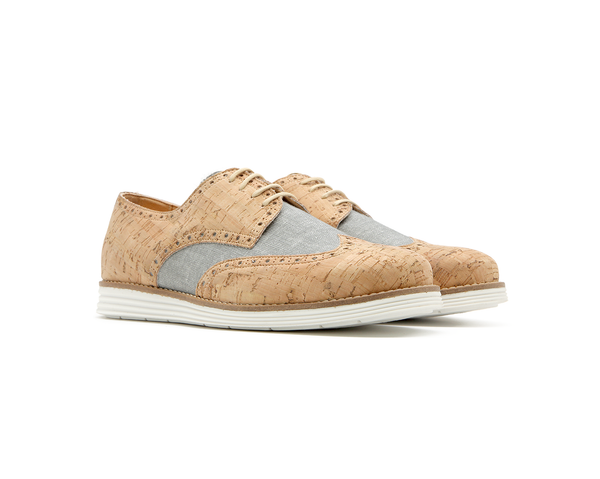 Casual Derby | Natural & Organic Grey - Vegan Shoes Rutz