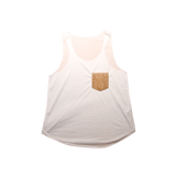 Sleeveless Vegan T-Shirt | White & Natural-Silver - Vegan Shoes Rutz