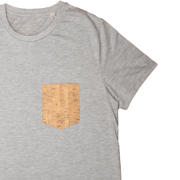 Regular Vegan T-Shirt | Mixed Grey & Natural Cork - Vegan Shoes Rutz