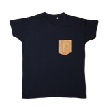 Regular Vegan T-Shirt | Blue Navy & Natural Cork - Vegan Shoes Rutz