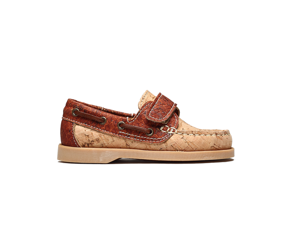 Eco Kids Boat Shoe | Natural & Cameltresse - Vegan Shoes Rutz