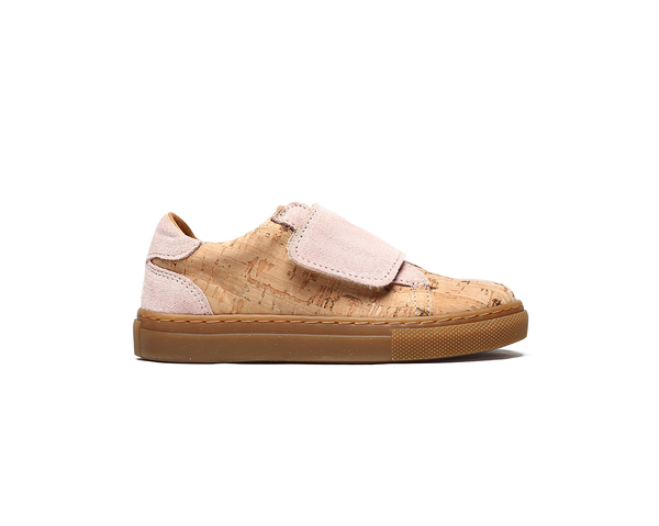 Kids Sneakers One Velcro <br> Natural & Pink