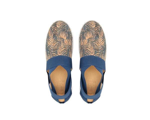 Open Slip On | Tropic Blue & Blue Elastic - Vegan Shoes Rutz