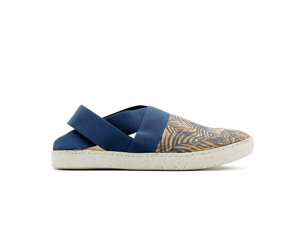 Open Slip On | Tropic Blue & Blue Elastic