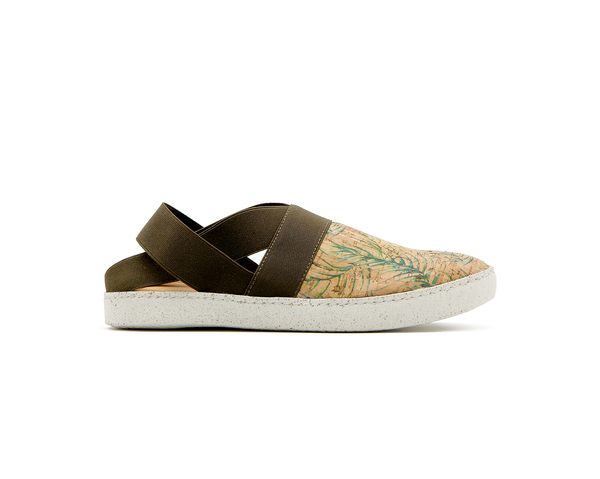 Open Slip On | Tropic Green & Green Elastic