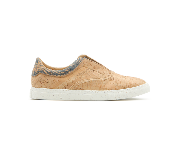 Vegan V-Strap Sneakers | Natural & Tropic Blue - Vegan Shoes Rutz