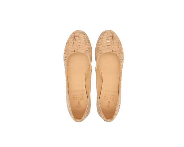 Vegan Ballerinas | Natural-Gold - Vegan Shoes Rutz
