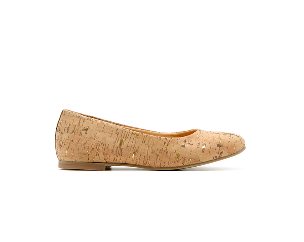 Ballerinas | Natural-Gold - Vegan Shoes Rutz