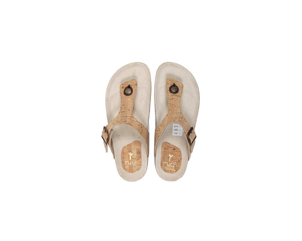 Vegan Slippers (Woman) | Natural - Vegan Shoes Rutz