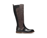 Eco Ridding Boot | Croco Black - Vegan Shoes Rutz