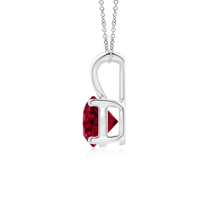 14k Gold and Garnet January Birthstone Solitaire Necklace