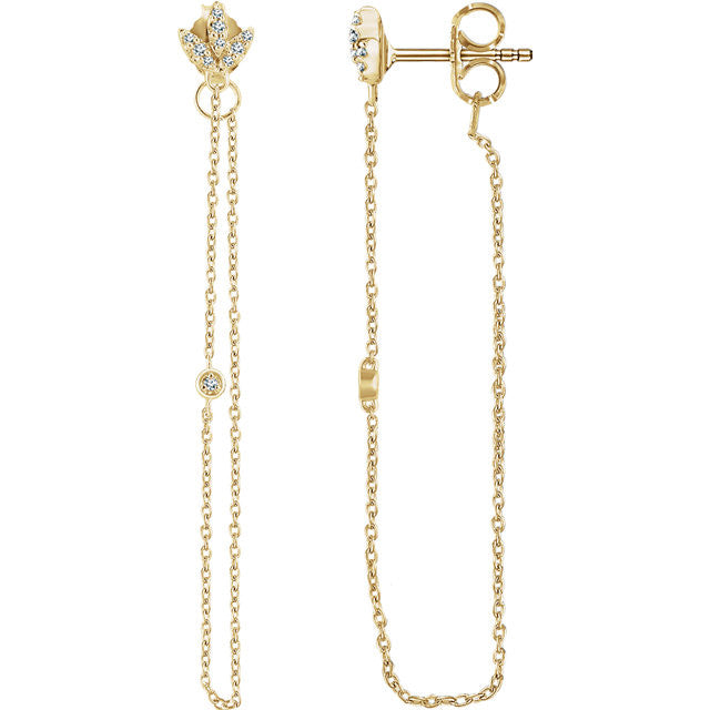 Finley Diamond Chain Earrings