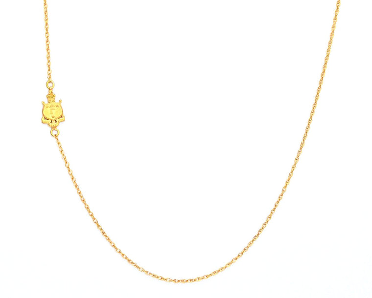 Delta Gamma Side Crest Necklace
