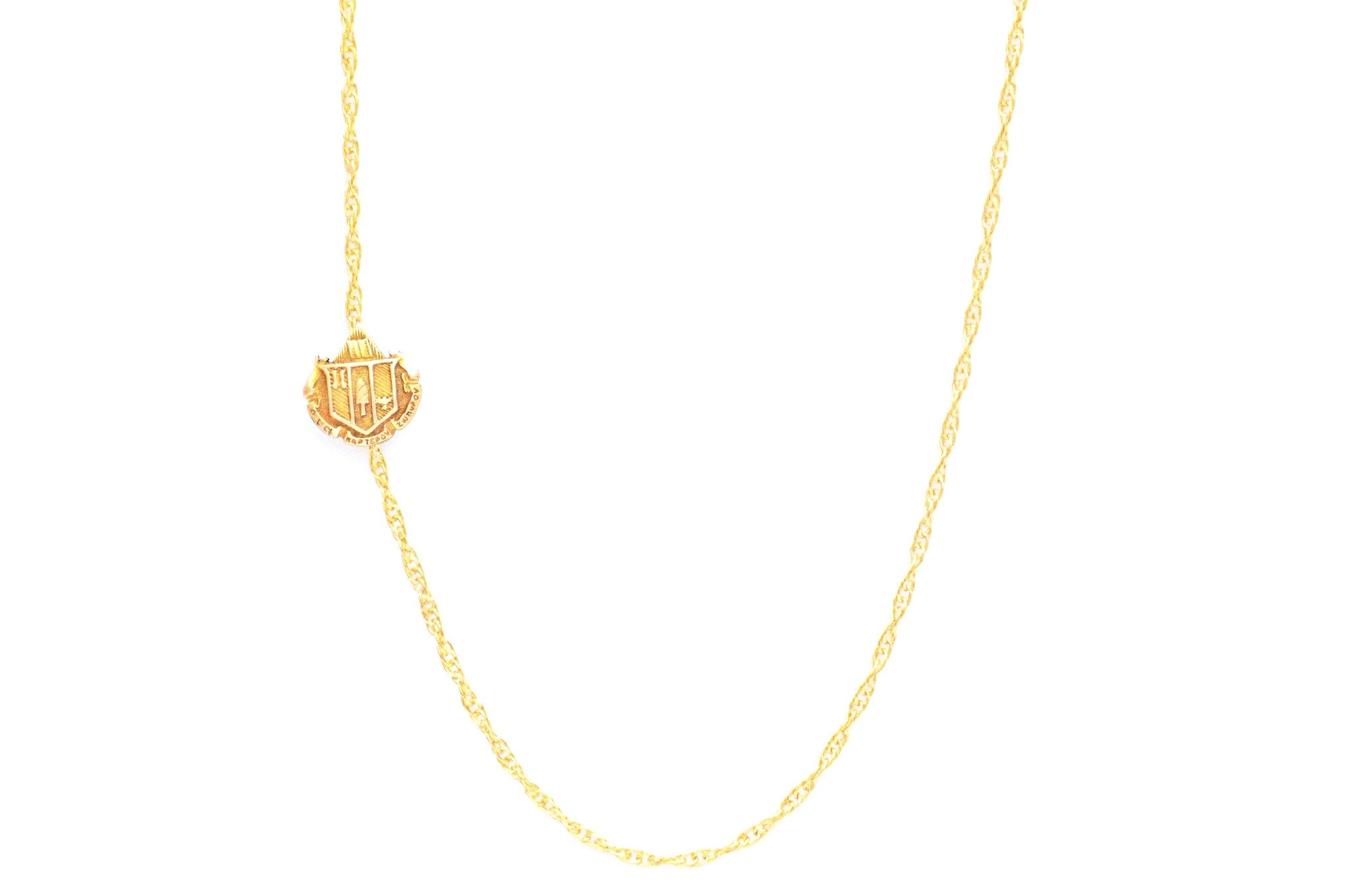 Delta Zeta Side Crest Necklace