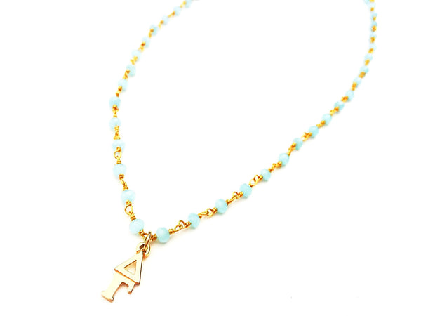 Vintage Delta Gamma Lavaliere Gemstone Necklace
