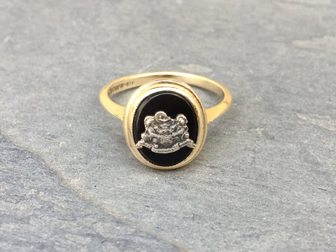 Vintage Phi Mu Black Onyx Cocktail Ring