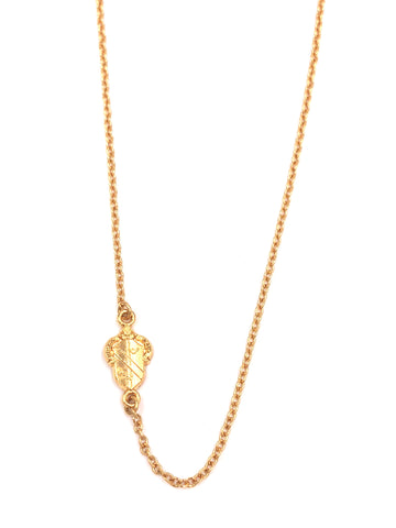 Alpha Phi Side Crest Necklace