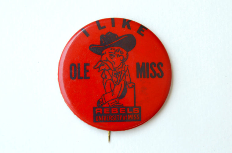 Vintage Collegiate Large 1960's Ole Miss Pin