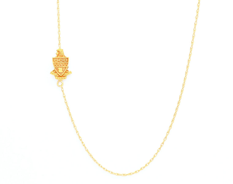 Kappa Alpha Theta Side Crest Necklace
