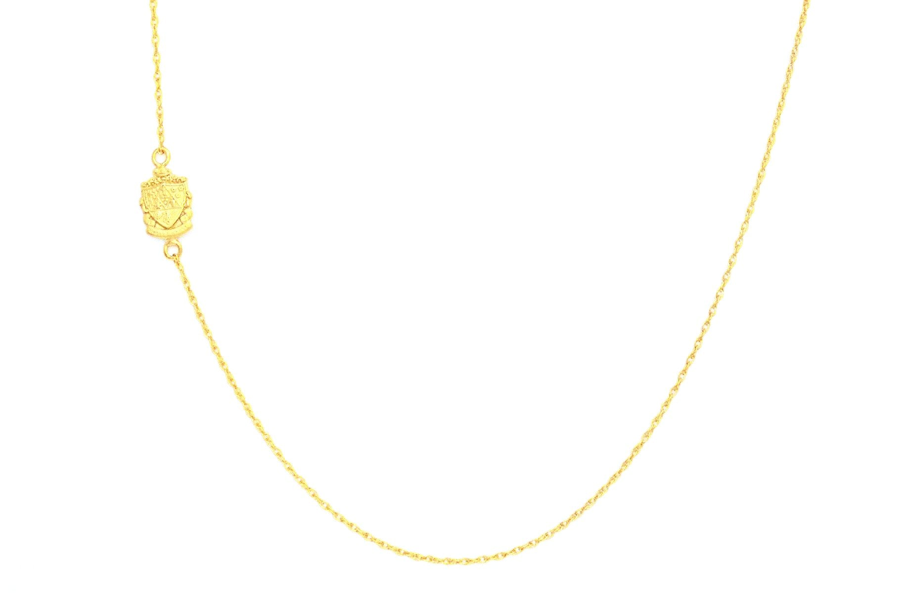 Kappa Delta Side Crest Necklace