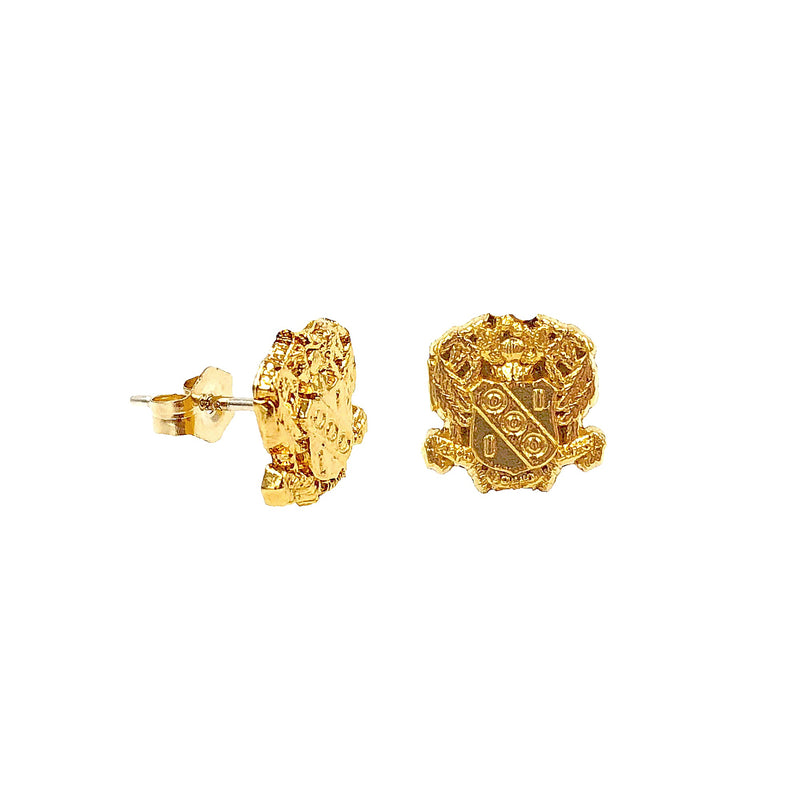 Alpha Gamma Delta Crest Earrings
