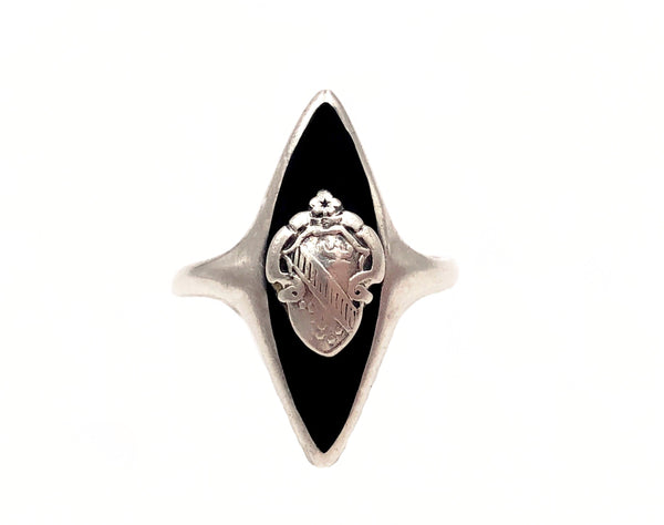 Vintage Alpha Phi Marquise Cocktail Ring Size 5.25