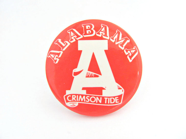 Vintage Collegiate 1960's University of Alabama Pin