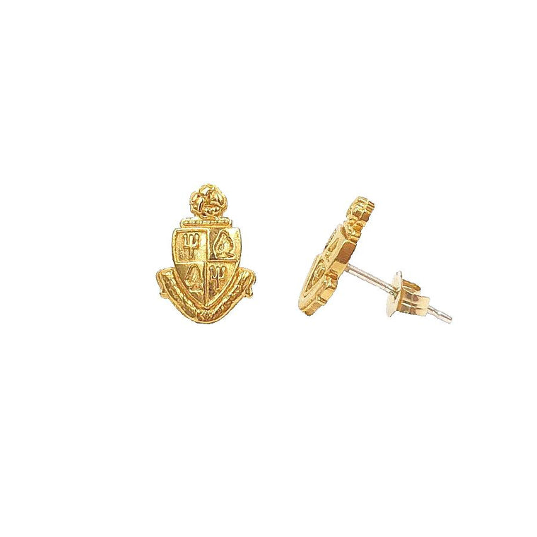 Delta Delta Delta Crest Earrings