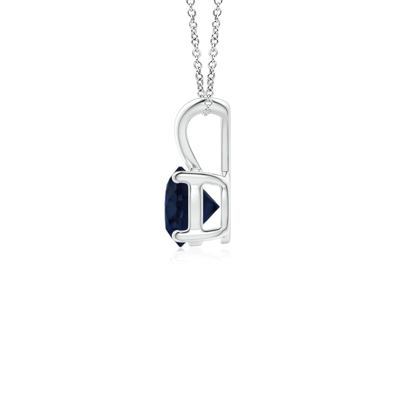 14k Gold and Sapphire September Birthstone Solitaire Necklace
