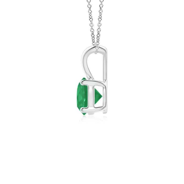 14k Gold and Emerald May Birthstone Solitaire Necklace