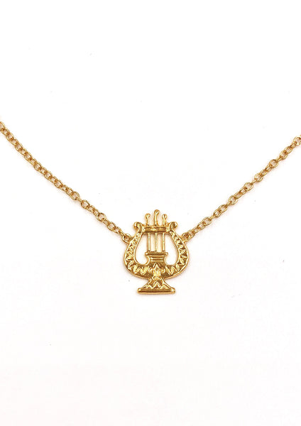 Vintage Alpha Chi Omega Lyre Necklace
