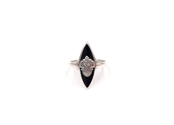 Vintage Alpha Phi Marquise Cocktail Ring Size 8